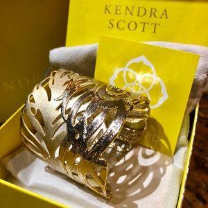Kendra Scott Gold Feather Cuff Bracelet